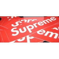 """Amazon.com: Supreme Box Logo Vinyl Gloss Stickers 2.2"""" X 8"""" Indoor/Outdoor UV Protection & Water Proof: Everything Else"""