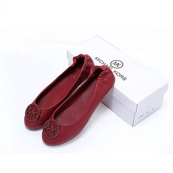 Michael Kors MK Fashionable Women Casual Flat Single Shoe