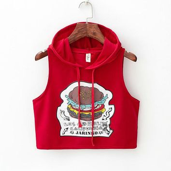 Los Angeles California Burger Women Crop Top Tank Top