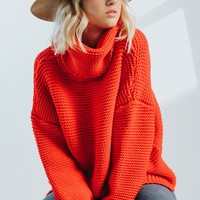 Francesca Poppy Red Sweater