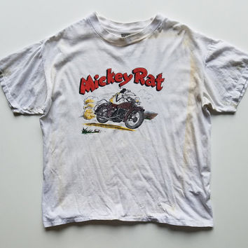Vintage Mickey Rat Motorcycle Thrasher t shirt size XL