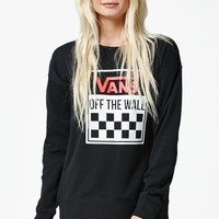 Vans 500 Miles Crew Neck Sweatshirt - Womens Hoodie - Black