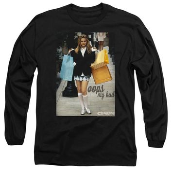 Clueless Long Sleeve T-Shirt Cher Oops My Bad Black Tee
