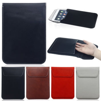 """Luxury Universal 10"""" Tablet  Leather Case Sleeve Bag Pouch For Apple iPad 2 3 4 Air 2 9.7 inch For Samsung Tab A 9.7 T550"""