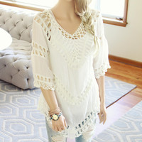 The Blake Tunic in White
