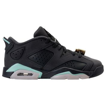 "[Free Shipping ]Air Jordan 6 Low GS ""Mint Foam"" 768878-015 Basketball Sneaker"