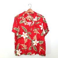Tropical Shirt Hawaiian Shirt Camp Shirt Tropical Print Shirt Mens Button up Tropical Shirt Mens Hawaiian Shirt