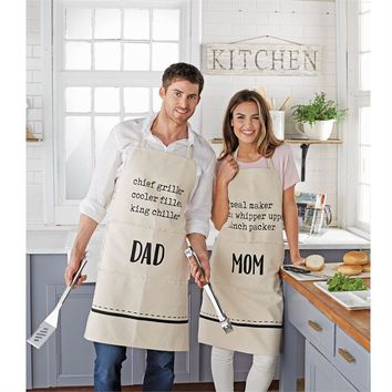 Mom and Dad Aprons (sold separately)