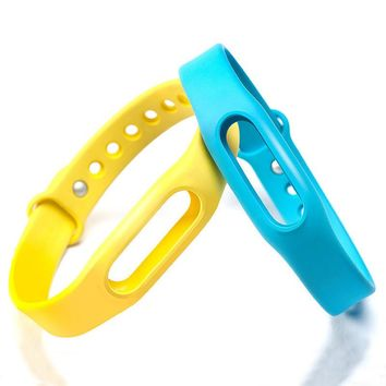 Top Quality Xiaomi Mi Band Bracelet Miband 1s Strap Candy Color Rubber Adjustable Smart Accessory for mi Wristband Replacement