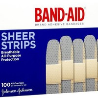 Band-Aid Sheer Comfort Flex Bandage, 1 Inch x 3 Inches, 100 Count (Pack of 2)