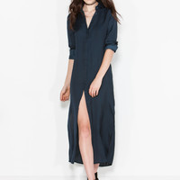 Hidden Agenda Maxi Shirt Dress