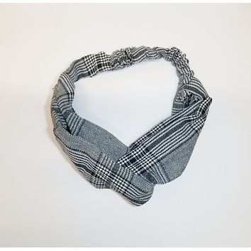 Ultimate Business Headwrap in Gray Plaid