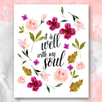 It is Well with My Soul, Christian Hymn Print