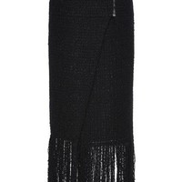 Maiyet Zip Yoke Tweed Skirt Black