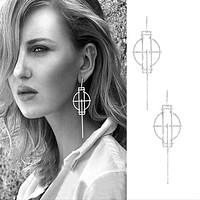 Big Moroccan cross full of earrings earrings high quality anti-allergic earrings female