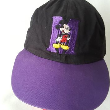 Vintage Mickey Mouse hat cap Walt Disney Cartoons Movie 80s 90s drew Pearson