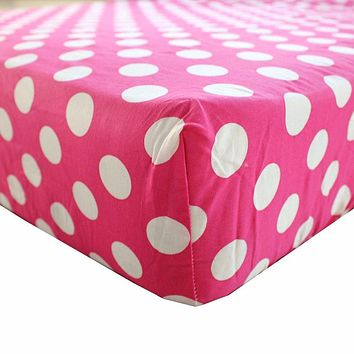 2/pack baby fitted crib sheets 28''x52''