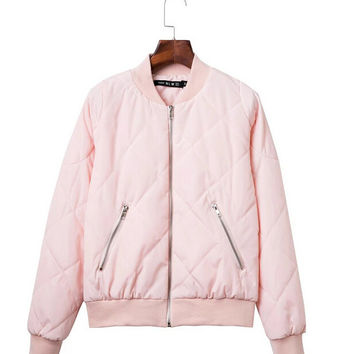 Womens Girls Pink  Autumn Winter Warm Jacket Comfortable Coat Outwear Gift 164