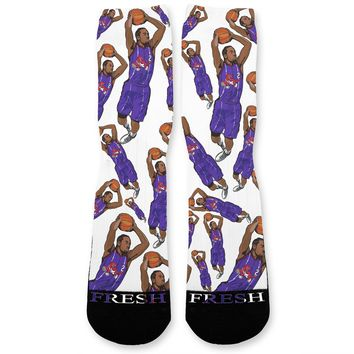 Kawhi Leonard Raptors Custom Athletic Fresh Socks