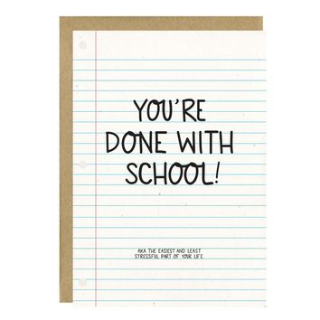 Easiest and Least Stressful Graduation Card