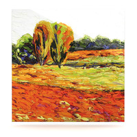 "Jeff Ferst ""Summer Breeze"" Orange Foliage Luxe Square Panel"
