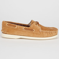 Sperry Top-Sider Cloud Logo Corduroy Authentic Original Womens Boat Shoes Sand Washed Corduroy  In Sizes
