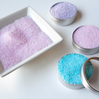 3 Pastel Colored Cocktail Rimming Sugar - Teal, Violet & Pink Rimming Sugar for Cocktails, Martinis or Champagne, Cocktail Rimming Gift Set