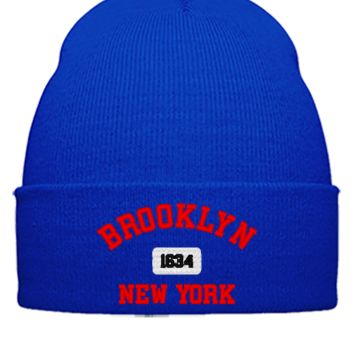 BROOKLYN NEW YORK - Beanie Cuffed Knit Cap