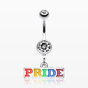 Rainbow Pride Dangle Belly Ring