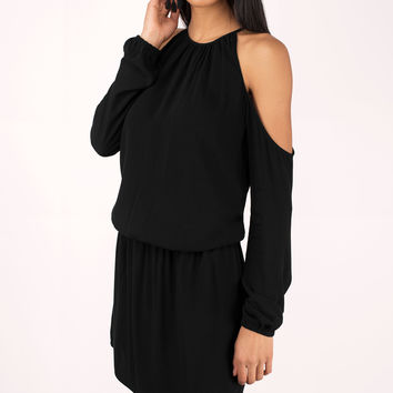 Skylar Cold Shoulder Gauze Dress
