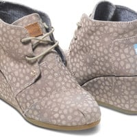 Taupe Moroccan Suede Women's Desert Wedges | TOMS