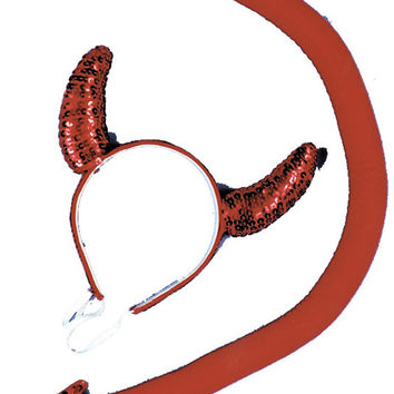 costume kit: sequin devil horn tail set Case of 2
