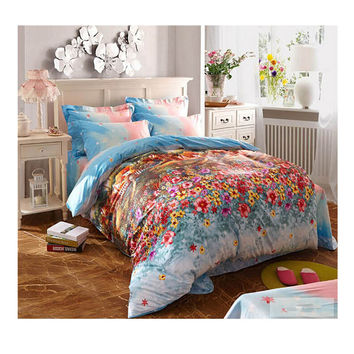 Cotton Active floral printing Quilt Duvet Sheet Cover Sets  Size 32
