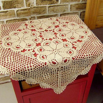 Crochet  Tablecloth/table mat,  23.6x23.6 inches,