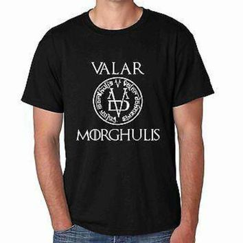 MDIGON1O Valar Morghulis Game Of Thrones Men's T-shirt Day First