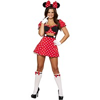 Sexy Polka Dot Pin Up Mouse Halloween Costume