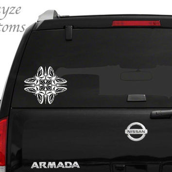 4 Butterfly Mandala Car/Computer vinyl decal / Please put color choice in note to seller.
