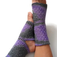Yoga Socks Hand Knit in Amethyst Pedicure Pilates Dance