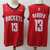 2019-2020 Houston Rockets 13 red James Harden Swingman Jersey