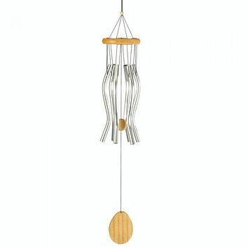 Wavy Aluminum Wind Chimes - 26 inches