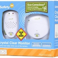 Safety 1st Crystal Clear Baby Monitor, White