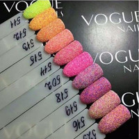 12/Set Colors Nail Polish Powder Dust 3D Tip Manicure Tools Nail Art Decoration Polish Powder Dust Gem Decoration