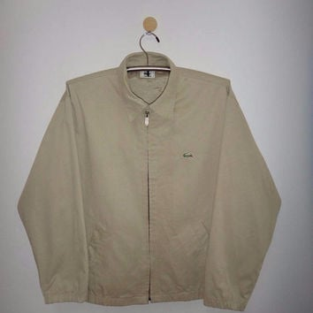 Vintage LACOSTE Harrington Jacket Zip Up Fishing Hunting Mens Outdoor Stylish Lacoste Bomber Coat Jacket