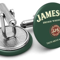 Jameson Irish Whiskey Green Cufflinks