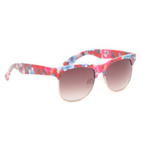 With Love From CA Printed Clubmaster Sunglasses at PacSun.com