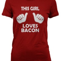 This Girl Loves Bacon t shirt | meat candy shirt