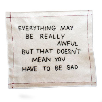 Everything Is Awful Embroidery