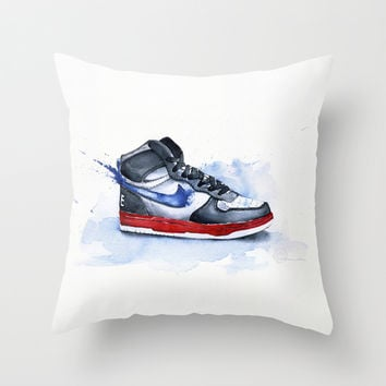 Nike dunk Throw Pillow by Istraille