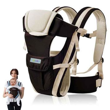 UNIKIDS 2-24 Months Breathable Multifunctional Front Facing Baby Carrier Infant Comfortable Sling Backpack Pouch Wrap Baby Kanga