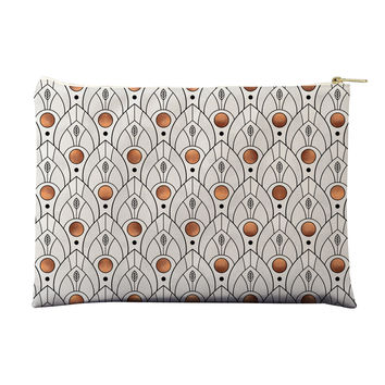 Art Deco Leaves Pouch